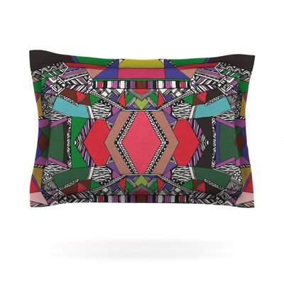 African Motif by Vasare Nar Featherweight Pillow Sham Size: Queen, Fabric: Cotton