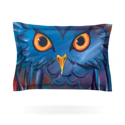 Hoot by Padgett Mason Featherweight Pillow Sham Size: Queen, Fabric: Cotton