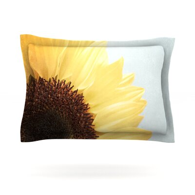 Sunshine by Susannah Tucker Featherweight Pillow Sham Size: Queen, Fabric: Cotton