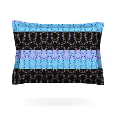 Denin Diamond by Nina May Featherweight Pillow Sham Size: Queen, Color: Blue/Black, Fabric: Cotton