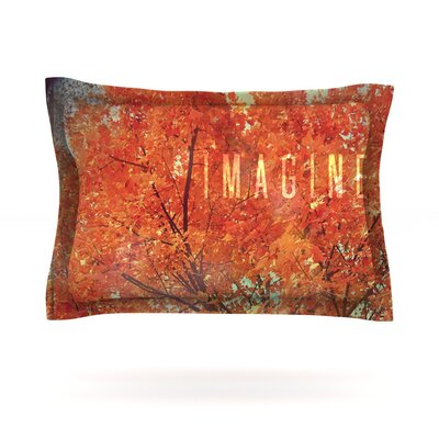 Imagine by Robin Dickinson Featherweight Pillow Sham Size: Queen, Fabric: Cotton