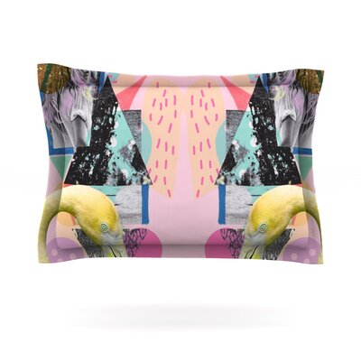 Flamingo Tropical by Vasare Nar Featherweight Pillow Sham Size: King, Fabric: Cotton