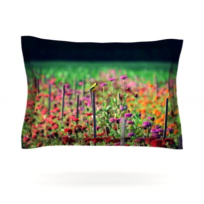 Live in the Sunshine by Robin Dickinson Featherweight Pillow Sham Size: Queen, Fabric: Cotton