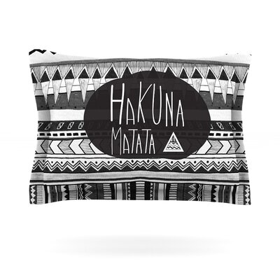 Hakuna Matata by Vasare Nar Featherweight Pillow Sham Size: Queen, Fabric: Cotton