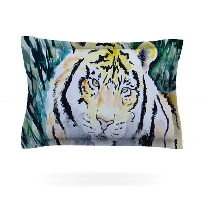 Tiger by Padgett Mason Featherweight Pillow Sham Size: Queen, Fabric: Cotton