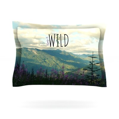 Keep it Wild by Robin Dickinson Featherweight Pillow Sham Size: Queen, Fabric: Cotton