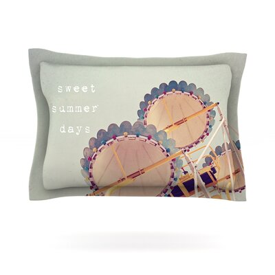 Sweet Summer Days by Susannah Tucker Featherweight Pillow Sham Size: Queen, Fabric: Cotton