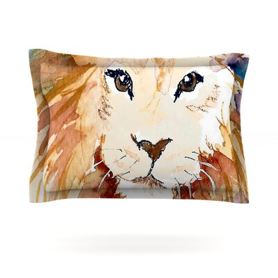 Leo by Padgett Mason Featherweight Pillow Sham Size: King, Fabric: Cotton