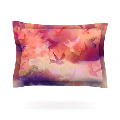 Souffle Sky by Nikki Strange Featherweight Pillow Sham Size: Queen, Fabric: Cotton