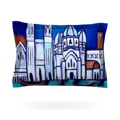 Venice by Theresa Giolzetti Featherweight Pillow Sham Size: King, Fabric: Cotton