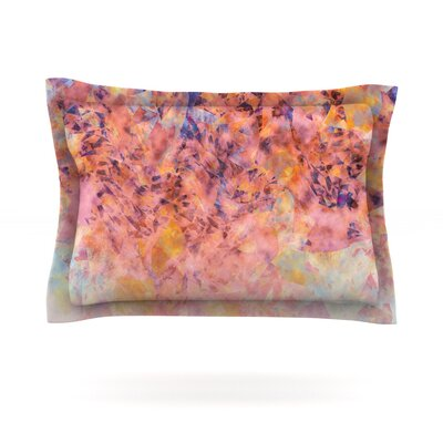 Blushed Geometric by Nikki Strange Featherweight Pillow Sham Size: Queen, Fabric: Cotton