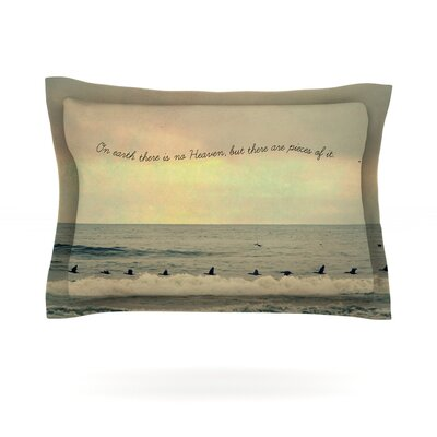 Pieces of Heaven by Robin Dickinson Featherweight Pillow Sham Size: Queen, Fabric: Cotton