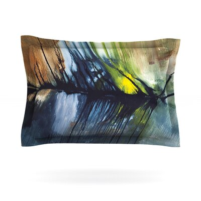 Gravity Falling by Steve Dix Featherweight Pillow Sham Size: King, Fabric: Cotton