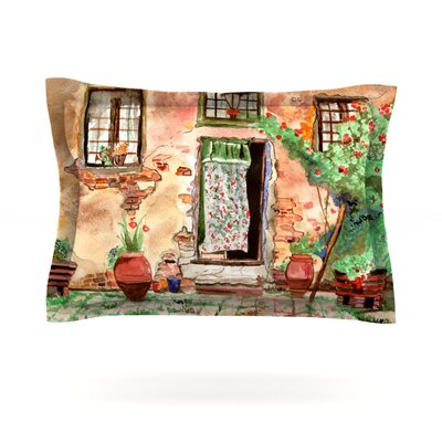 Tuscan Door by Theresa Giolzetti Featherweight Pillow Sham Size: King, Fabric: Cotton