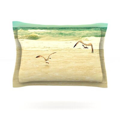 Karate Kid Pose by Robin Dickinson Featherweight Pillow Sham Size: King, Fabric: Cotton