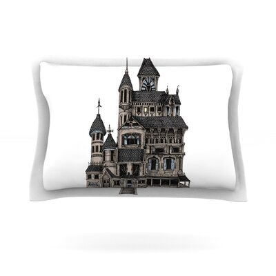 House of Usher by Sophy Tuttle Featherweight Pillow Sham Size: King, Fabric: Cotton