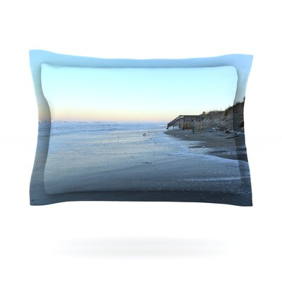 Sand Surf Sunshine by Robin Dickinson Featherweight Pillow Sham Size: King, Fabric: Cotton