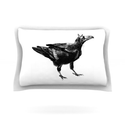 Raven by Sophy Tuttle Featherweight Pillow Sham Size: Queen, Fabric: Cotton