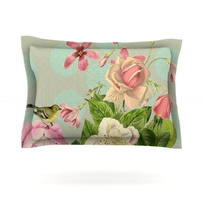 Vintage Garden Cush by Suzanne Carter Featherweight Pillow Sham Size: Queen, Fabric: Cotton