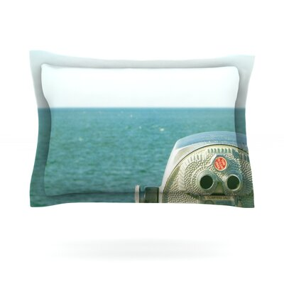 Ocean View by Robin Dickinson Featherweight Pillow Sham Size: Queen, Fabric: Cotton