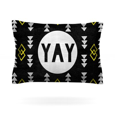 Yay by Skye Zambrana Featherweight Pillow Sham Size: Queen, Fabric: Cotton