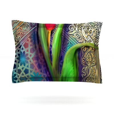 Arabesque Tulip by S. Seema Z Featherweight Pillow Sham Size: King, Fabric: Cotton