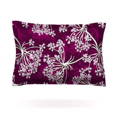 Squiggly Floral by Suzie Tremel Featherweight Pillow Sham Size: King, Fabric: Cotton