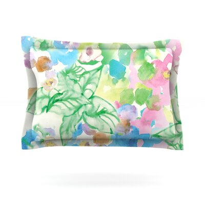 Leaf Bouquet by Sonal Nathwani Featherweight Pillow Sham Size: King, Fabric: Cotton