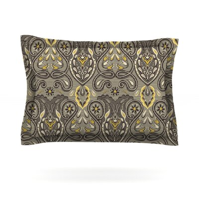 Vintage Damask by Suzie Tremel Featherweight Pillow Sham Size: King, Fabric: Cotton