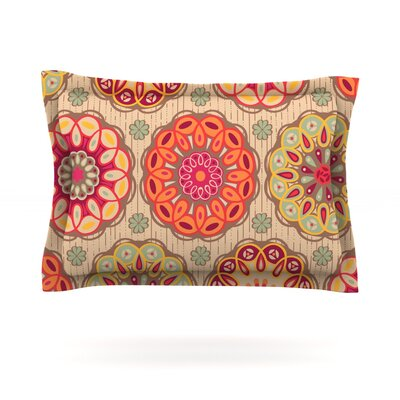 Festival Folklore by Suzie Tremel Featherweight Pillow Sham Size: Queen, Fabric: Cotton