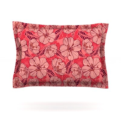 Flutter Floral by Suzie Tremel Featherweight Pillow Sham Size: Queen, Fabric: Cotton