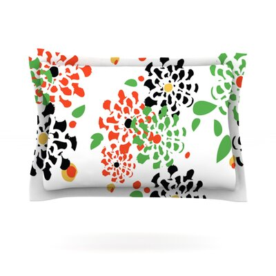 Multi Bouquet by Sonal Nathwani Featherweight Pillow Sham Size: King, Fabric: Cotton