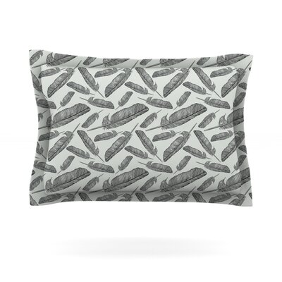 Feather Scene by Sam Posnick Featherweight Pillow Sham Size: Queen, Fabric: Cotton
