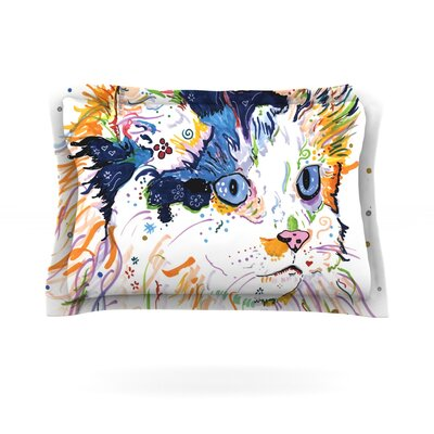Sophia by Rebecca Fischer Featherweight Pillow Sham Size: Queen, Fabric: Cotton