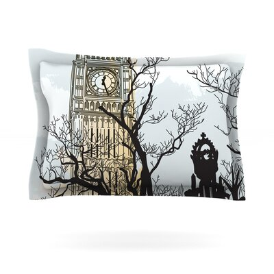 Big Ben by Sam Posnick Featherweight Pillow Sham Size: Queen, Fabric: Cotton