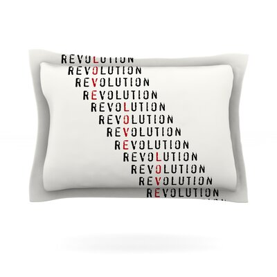 Revolution by Skye Zambrana Featherweight Pillow Sham Size: King, Fabric: Cotton