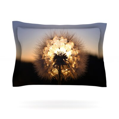 Glow by Skye Zambrana Featherweight Pillow Sham Size: King, Fabric: Cotton