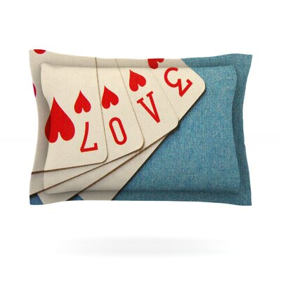 Love by Skye Zambrana Featherweight Pillow Sham Size: Queen, Fabric: Cotton