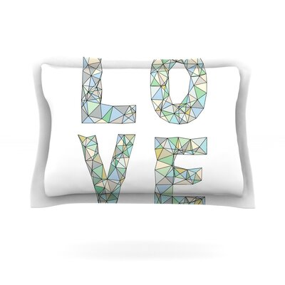 Four Letter Word by Skye Zambrana Featherweight Pillow Sham Size: King, Fabric: Cotton