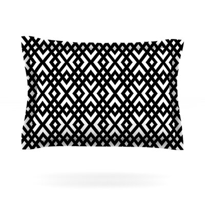 Dijagonala by Trebam Featherweight Pillow Sham Size: Queen, Fabric: Cotton