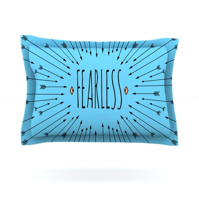 Fearless by Skye Zambrana Featherweight Pillow Sham Size: Queen, Fabric: Cotton