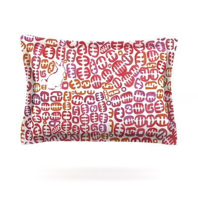 Oliver by Theresa Giolzetti Featherweight Pillow Sham Size: Queen, Color: Orange, Fabric: Cotton