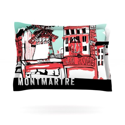 Montmartre by Theresa Giolzetti Featherweight Pillow Sham Size: King, Fabric: Cotton