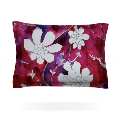 Succulent Dance II by Theresa Giolzetti Featherweight Pillow Sham Size: Queen, Fabric: Cotton