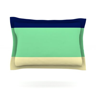 South Pacific by Catherine McDonald Featherweight Pillow Sham Size: King, Fabric: Cotton