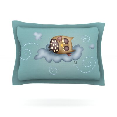Sleepy Guardian by Carina Povarchik Featherweight Pillow Sham Size: King, Fabric: Cotton