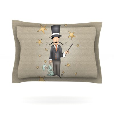 Circus Magician by Carina Povarchik Featherweight Pillow Sham Size: Queen, Fabric: Cotton