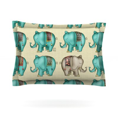 Dreamy Ellie by Carina Povarchik Featherweight Pillow Sham Size: King, Fabric: Cotton