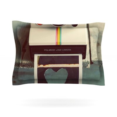 Polaroid Love by Cristina Mitchell Featherweight Pillow Sham Size: King, Fabric: Cotton