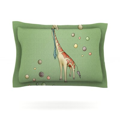 Giraffe by Carina Povarchik Featherweight Pillow Sham Size: King, Fabric: Cotton